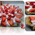 Tarte aux fraises pistachée