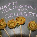 CREPES MULTICOLORES AUX COURGETTES