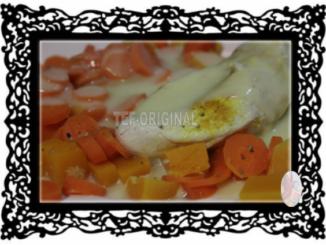 poulet a la crème et ses carottes thermomix