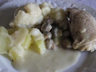 poulet; crème; choux fleurs; pommes vapeur; multi-cuisson; thermomix; tm31: tm5