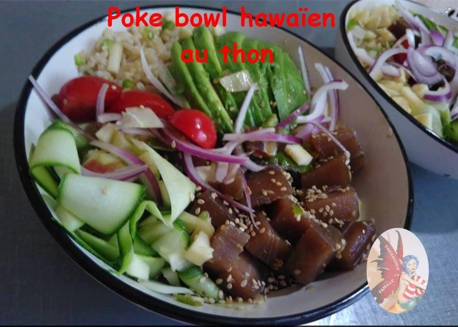Poke bowl hawaien au thon