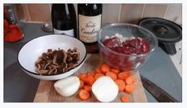 ingrédients du boeuf bourguignon