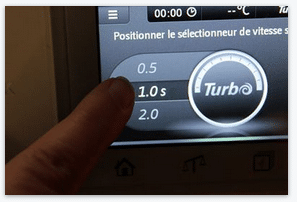 selection de la duree du turbo sur thermomix tm5