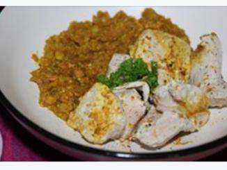 blanc de dinde lentilles corail quinoa au curry thermomix