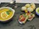 velouté de buternut, cabillaud sauce ciboulette choux fleurs pommes de terre au varoma