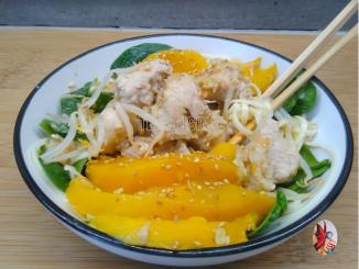 wwok de poulet a la mangue au thermomix