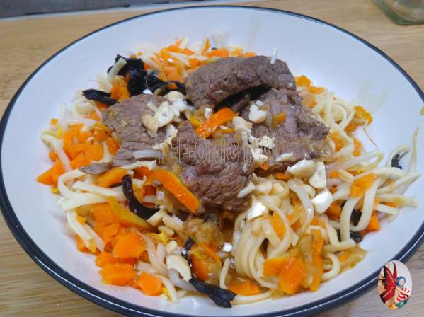 Bœuf à l'orange au Thermomix et ses nouilles chinoises