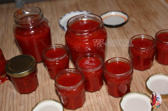 confiture de poivrons rouge a la vanille