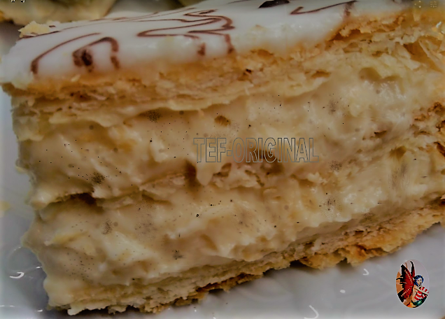 mille feuilles au Thermomix crème diplomate vanille tonka