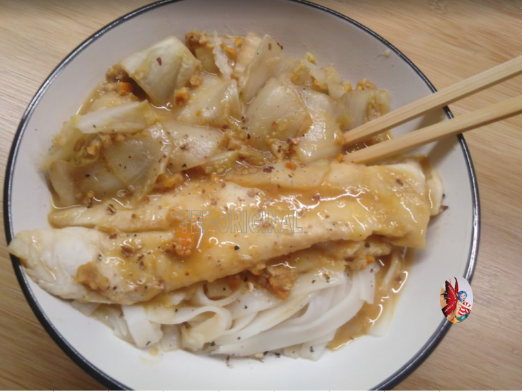 nouilles chinoises lotte endive orange Sichuan au Thermomix