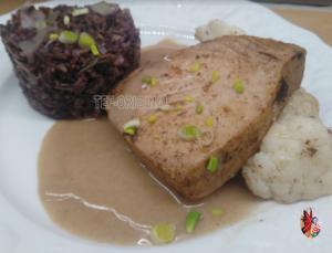 thon sauce vanille timut et son riz rouge thermomix