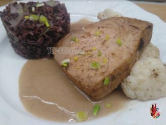 thon sauce vanille, poivre timut et riz rouge au thermomix