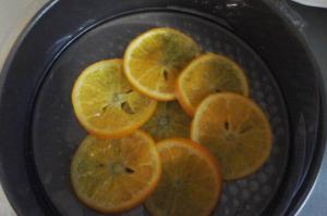 tapisser le moule d'orange