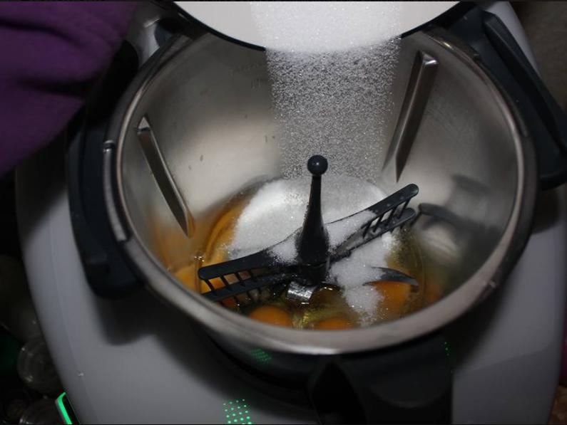 fouet oeufs et sucre pour génoise au thermomix