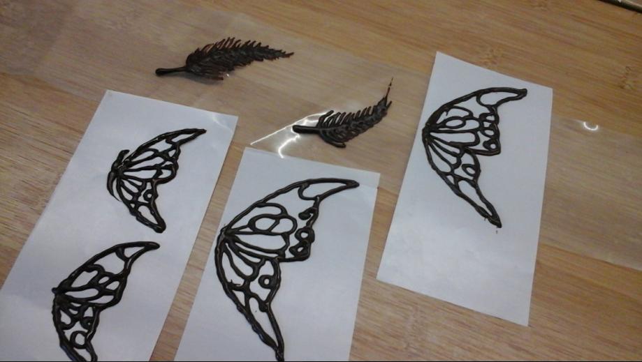 papillon dentelle au chocolat thermomix