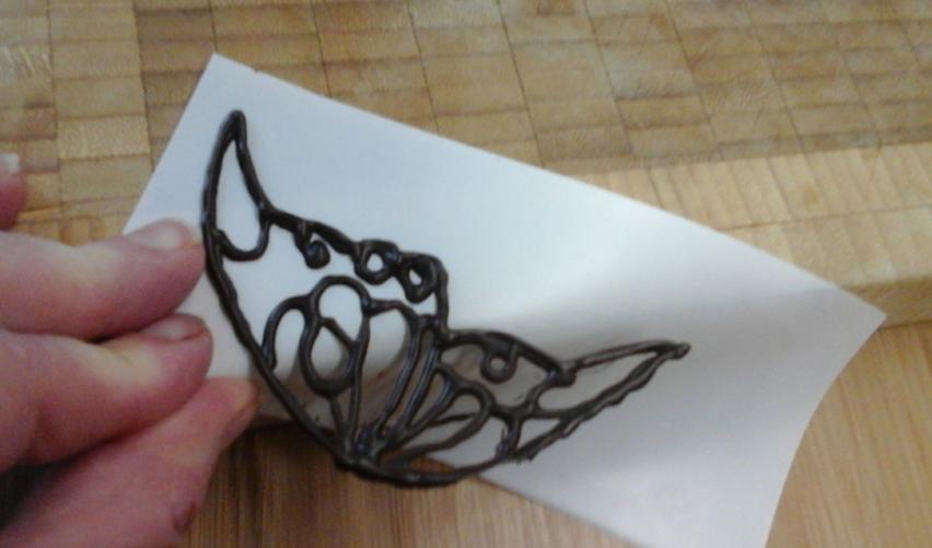 aile de papillon dentelle au chocolat au thermomix