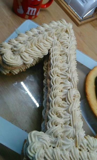 Nunber cake praliné à la poire avec insert chocolat thermomix