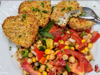 nuggets de poisson salade de pois chiches thermomix