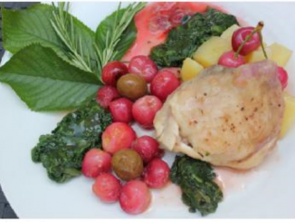 poulet aus cerises et olives au thermomix