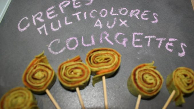 Crepes multicolores aux courgettes  thermomix