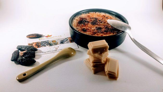 crème brûlée chocolat blanc tonka fruits rouges thermomix
