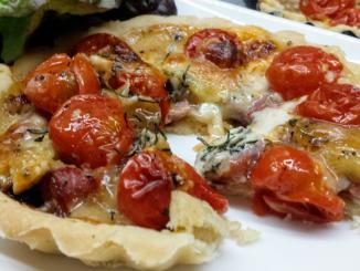 tartelette Saint Nectaire tomates cerise thermomix