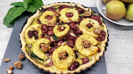 tare aux épinards, gésiers et pommes au thermomix