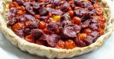 tarte aux tomates cerises et gésiers au thermomix