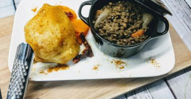 Lentilles au curry butternut et poulet thermomix
