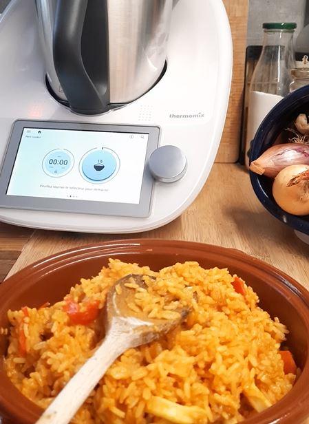 riz a la tomate au tm6 fonction rice cooker